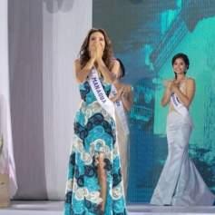 Al momento de ser electa Miss Nicaragua 2019 (Foto Cortesía)